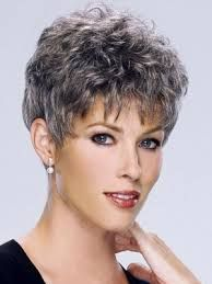 short curly hairstyles for grey hair - Buscar con Google