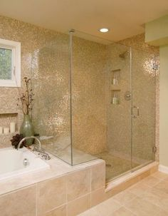 Large frameless shower