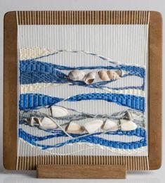 tapiz tapiz hilo de algodon,lana,caracoles tejido,