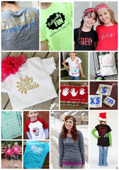 lots of ideas for making your own t shirts with Heat Transfer Vinyl ~ Sugar Bee Crafts