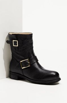 "Jimmy Choo ""Youth"" Short Biker Boots are absolutely gorgeous.  The leather is like ""buttah"" and they mold to your feet with each wear.  I'm so in love with this boot."