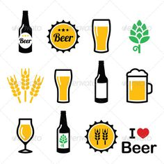 Realistic Graphic DOWNLOAD (.ai, .psd) :: http://realistic-graphics.xyz/pinterest-itmid-1008017455i.html ... Colorful Beer Icons Set ...  alcohol, bar, beer, big, black, bottle, cap, drink, drinking, froth, glass, green, hops, icon, mug, on white, pint, pub, restaurant, sign, small, symbol, tall, vector, wheat, yellow  ... Realistic Photo Graphic Print Obejct Business Web Elements Illustration Design Templates ... DOWNLOAD :: http://realistic-graphics.xyz/pinterest-itmid-1008017455i.html