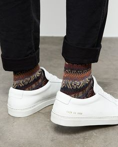 socks with white shoes