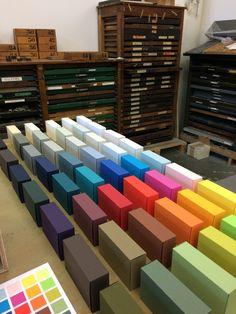 Boxes made of Gmund Colors paper. #gmundpaper