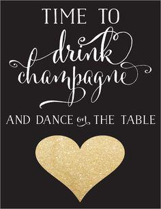 champagne free printable #freeprintable #champagne #weddingchicks http://www.weddingchicks.com/2014/03/27/free-champange-printable/