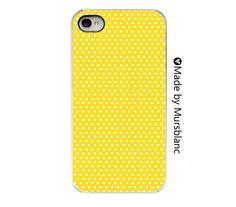 iPhone Case - Yellow Polka Dot - sunshine - happy - Feminine iPhone case  - pretty