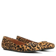 A flat with personality. You'll love choosing from all of the colors and textures of this beautiful flat, imagining all of the ways it can update your wardrobe. Careful construction makes it a winner for comfort.Leather, animal print, patent, fabric, or leather snake pattern upperPointed toeMemory Foam Cool Fit™ insoleFlexible, durable sole