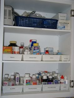 An Old Fashioned Girl: Organizing Medicine Cabinets