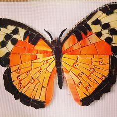 #butterfly#mosaic #mosaics #mosaic #mosaico #papillons