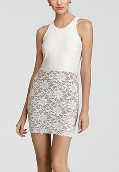 Bailey 44 Dress – Madrid Faux Leather & Lace