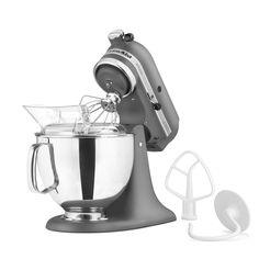 Kitchenaid¨ Artisan Series 5 Quart Tilt-Head Stand Mixer- Contour Silver Kitchenaid Artisan Stand Mixer, Kitchenaid Mixer Colors, Artisan Mixer, Kitchen Aid Recipes, Kitchen Aid Mixer, Kitchen Tools, Kitchen Dining, Kitchen Things, Oven Recipes