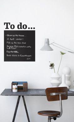 To Do - sort wallsticker 250,-