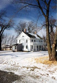 Restoration in progress on this historic Rice County, Minnesota farmhouse built in the years 1867-1870 by Thomas Veblen
