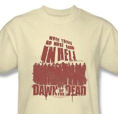 Dawn-of-Dead-T-shirt-vintage-70-039-s-cotton-graphic-zombie-tee-horror-movie-UNI479