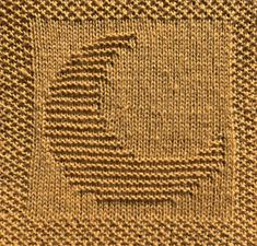 Free knitting pattern for moon washcloth dishcloth afghan square. Lots of other patterns available too - afghan square, washcloth, animals, alphabet Knitted Squares Pattern, Knitted Dishcloth Patterns Free, Knitted Washcloths, Knit Dishcloth, Knitted Blankets, Knitting Patterns Free, Free Knitting, Knit Patterns, Knitting Squares