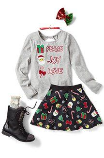 Shop Justice's selection of new arrivals for tween girls to find the latest styles she loves! Tween Fashion, Girls Fashion Clothes, School Fashion, Fashion Outfits, Teen Clothing, Clothing Sites, Justice Clothing Dresses, Fashion Fashion, Teenage Girl Outfits
