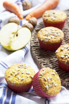 Morning Glory Muffins Muffin con mela, ananas e carota.