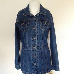Denim jacket Caribbean Joe Denim Jacket!! Size medium 100% Cotton !! NWT !! Caribbean joe Jackets & Coats Jean Jackets