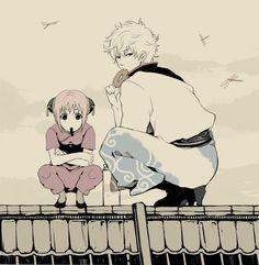 Gintoki & Kagura. Gintama
