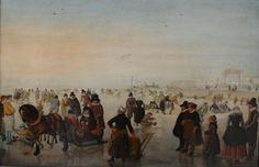 Hendrick Avercamp : Ice scene (Kröller-Müller Museum) 1585-1634 ヘンドリック・アーフェルカンプ