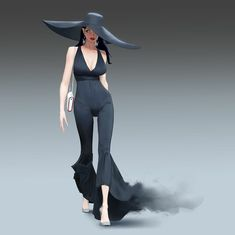 Character Poses, Female Character Design, Character Modeling, Character Outfits, Black Brown Hair, Female Pose Reference, Female Poses, Classy Women, Cartoon Styles