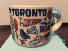 STARBUCKS TORONTO BEEN THERE SERIES ORNAMENT 2oz - NIB / NWT Starbucks Christmas, Starbucks Mugs, Toronto, Ornaments, Tableware, Ebay, Dinnerware, Dishes, Starbucks Mug