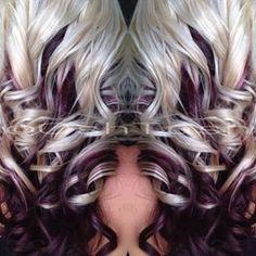 35 Lovely Purple Hair Color Ideas Trending in 2019 - Hair Color And Cut, Cool Hair Color, Hair Colors, Love Hair, Gorgeous Hair, Corte Y Color, Blonde Color, Darker Blonde, Bright Blonde