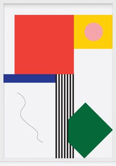 Juxtapoz Magazine - Poster Design by Christopher Gray Abstract Geometric Art, Abstract Shapes, Abstract Pattern, Pattern Art, Graphic Design Illustration, Graphic Art, Illustration Art, Graphic Posters, Bauhaus Art
