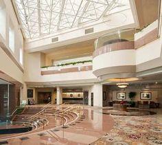 Hilton Long Beach lobby.
