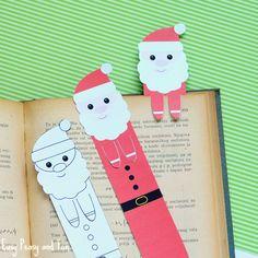 Christmas Printable Santa Bookmarks