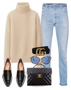 A fashion look from January 2017 featuring uniqlo sweater, blue ripped jeans and h&m flats. Browse and shop related looks. Simple Outfits, Classy Outfits, Chic Outfits, Fall Outfits, Fashion Outfits, Womens Fashion, Fashion Trends, Look Fashion, Daily Fashion