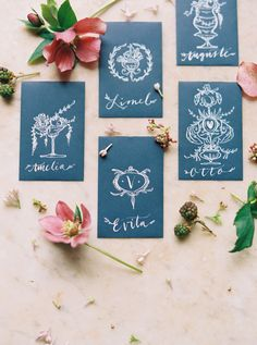Custom Calligraphy Escort Cards | photography by http://nbarrettphotography.com/