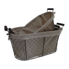Cheungs Oval Lined Wire Basket (Set Of 4)