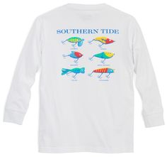 a5e71663 Kids Classic Lures Long Sleeve T-Shirt | Southern Tide Southern Prep, Southern  Tide