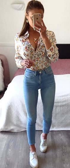 Lovely Summer Outfits To Stand Out From The Crowd – … schöne Sommeroutfits, die sich von der Masse abheben – [. Mode Outfits, Outfits For Teens, Fashion Outfits, Gym Outfits, Cute Casual Outfits, Stylish Outfits, Elegantes Outfit Frau, Traje Casual, Look Fashion