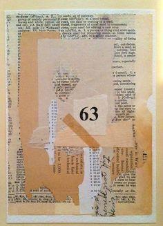 """Vessel 63."" Collage, old papers and ephemera. Rita McNamara - Salon de a refuse."
