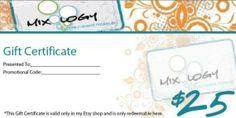 25 Dollars  Gift Certificate to Mixology Makeup  by MixologyMakeup, $25.00
