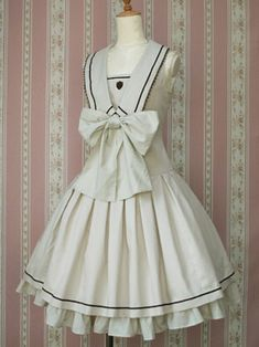 British Marine Ribbon Dress, Victorian maiden