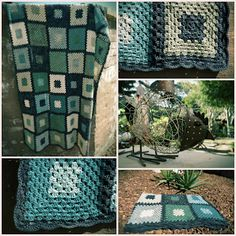 colour crochet, squares, karoo throw, inspir throw, crochet project
