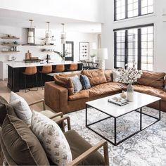 Home Living Room, Living Room Designs, Comfy Sectional, Living Room Decor Traditional, Living Comedor, Living Room Inspiration, Home Interior Design, Decoration, Home Decor