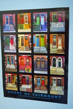 Colorful Doors Architecture of the City Philadelphia Fairmount Art Museum Poster 18 x 24 on Etsy, $15.00