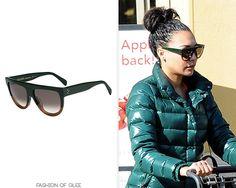 Naya Rivera goes grocery shopping, Los Angeles, December 31, 2014 Céline 'Shadow' Sunglasses - $236.00 Worn with: Hermès bag