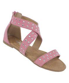 Look what I found on #zulily! Pink Rose Sandal #zulilyfinds