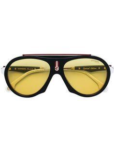 Carrera Flag 스페셜 에디션 선글라스 Gucci Eyewear, Ski Goggles, Sophisticated Style, Carrera, Black Metal, Protective Cases, Mirrored Sunglasses, Women Wear, Unisex