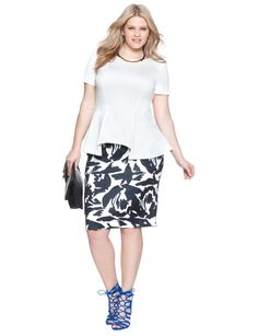 Spring Floral Pencil Skirt | Women's Plus Size Skirts | ELOQUII