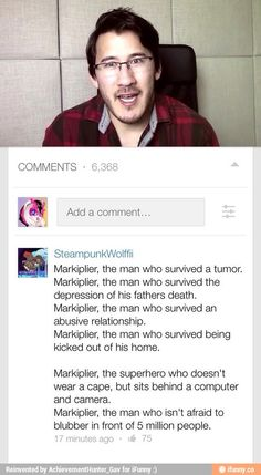 Markiplier, the one person that can do that and be awesome I hope one day I can do the same... :3
