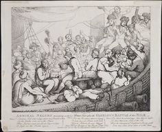 Admiral Nelson recreating with his brave tars after the glorious battle of the Nile Rowlandson delin. & sculp. Rowlandson, Thomas, 1756-1827, printmaker. London : Pub. Octr. 20, 1798, at Ackermann's Gallery, No. 101 Strand, [1798] Call Number: 798.10.20.01+  Image ID:lwlpr09374