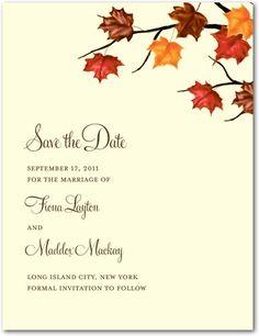 Save the Date Postcards Artistic Maple - Front : Autumn Orange