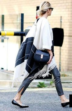 A stylish poncho is the perfect Fall weather throw on!