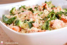 Cous Cous Salmone e Zucchine Grigliate